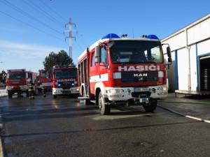 Požár v Modřicích