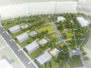 Návrh řešení Horního náměstí v Bystrci od ateliéru RAW, vizualizace: Ateliér RAW