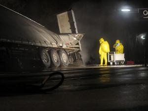 Zásah hasičů na D1, foto: HZS JMK