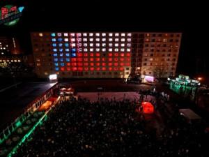 Light show na kolejích VUT v Brně, foto: kolejroku.cz