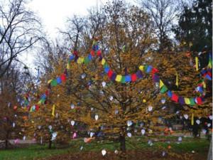Luzanecky rozkvetlý strom
