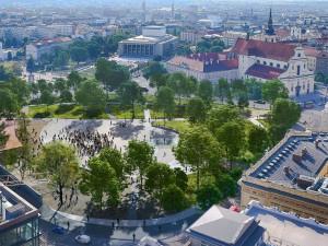 Vizualizace Moravského náměstí, Zdroj: Consequence forma architecture