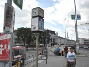 Staré hodiny na Benešově ulici, zdroj: brno.cz