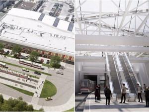 Vizualizace tramvajové smyčky na kampus