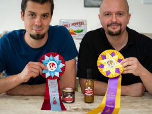 Richard Belžík (vlevo) a Jan Jašek – World Hot Sauce Awards 2016
