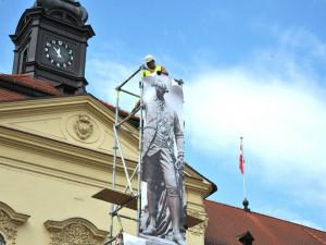 Maketa sochy Josefa II.
