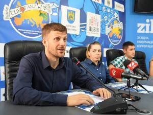 Matěj Hollan na tiskové konferenci k turnaji Eurofanz