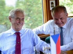 Miloš Zeman s Andrejem Kiskou