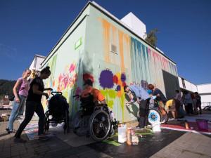 Street art s dětmi v Blansku
