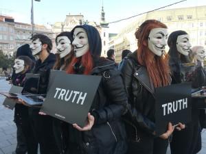 Protest na náměstí Svobody