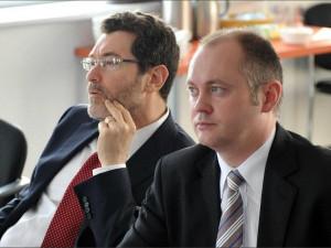 Michal Hašek (vpravo)