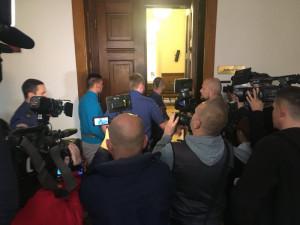 Obviněný Radim Žondra u soudu, zdroj: Twitter / Barbora Blažková
