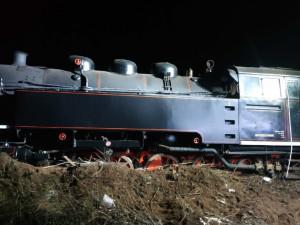 Vykolejená lokomotiva