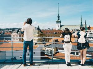 Výhled ze střechy Alfa Pasáže