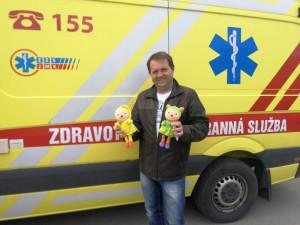 Aleš Hubáček a jeho darované hračky