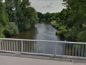Pohled na řeku Svratku z mostu Sokolovy ulice