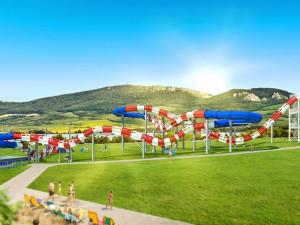 Plánovaný tobogán v Aqualand Moravia