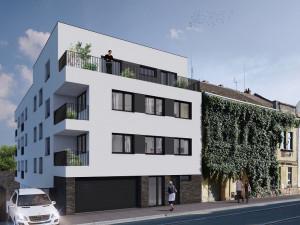 Plánovaný dům na Valchařské ulici