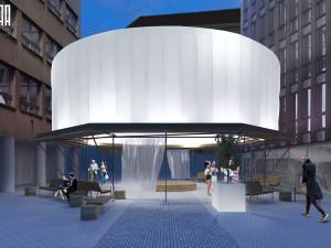 Architektonická instalace na Pohořelci