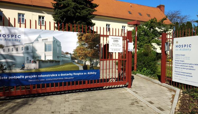 Kraj dá pět milionů na rozšíření Hospice sv. Alžběty v Brně