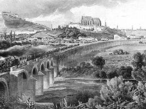 Pohled na Brno a první železnici