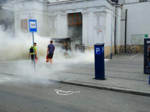 Následky zahoření plynu u stávku s kávou na hlavním nádraží