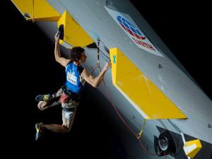Adam Ondra na šampionátu v Japonsku