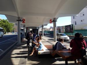 Nové autobusové nádraží u Grandu