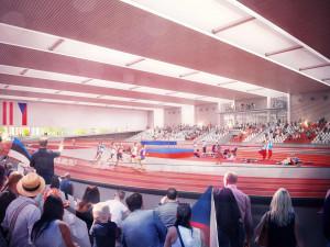 Vizualizace nové atletické haly