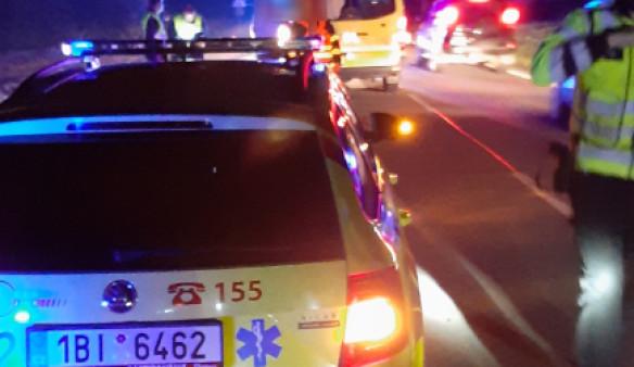 Během včerejší noci se u Kuřimi srazil motorkář s jelenem