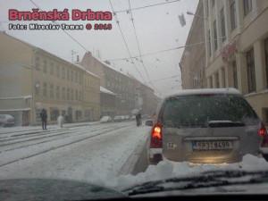 Sníh způsobil kolaps brněnské dopravy