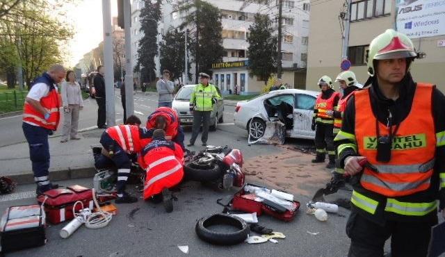 Nehoda v centru Brna