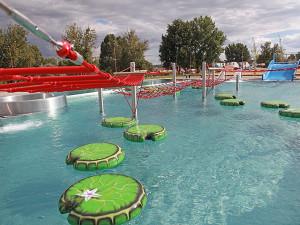 Vnější bazény části Imperium s atrakcemi hlavně pro děti