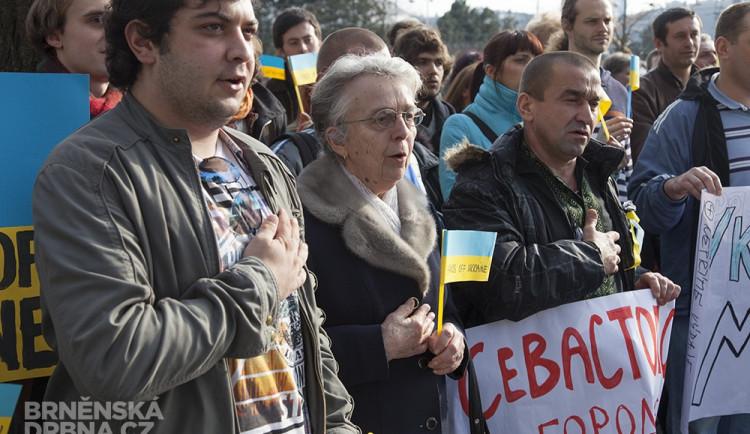 Protest proti ruské agresi vůči Ukrajině, foto: Brněnská Drbna, Miroslav Toman