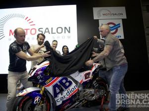 Odhalení nového motocyklu Karla Abrahama pro MotoGP, foto: Brněnská Drbna, David Zouhar