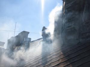 Požár hotelu Grandezza na Zelném trhu v Brně, foto: HZS JMK
