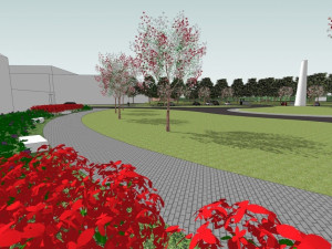 Vizualizace zpracování změn na Vaňkově náměstí na Žlutém kopci, vizualizace: P.P. Architects