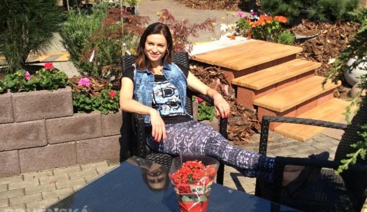 Hanka Kynychová si na výstavišti vybrala nové věci do zahrady, foto: Brněnská Drbna, David Zouhar