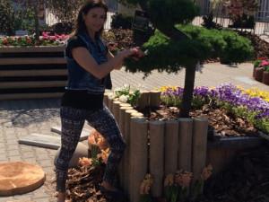 Hanka Kynychová na výstravišti pomohla s péčí o zahradu, foto: Brněnská Drbna, David Zouhar