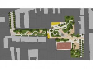 Vizualizace parku Hvězdička, autor: RADEK OTEVŘEL, www.otevrel.eu