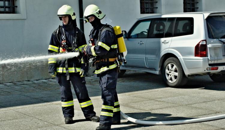 Hasiči nacvičovali likvidaci plamenů na Špilberku, foto: hasiči JMK