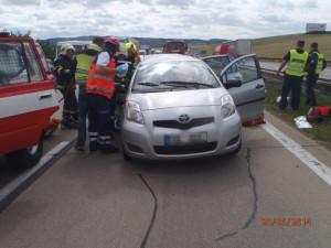 Hasiči zasahovali na D1 u vážné nehody, foto: HZS JMK