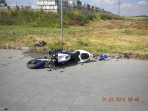 Tragická nehoda motorkáře a osobního automobilu na Vyškovsku, foto: HZS JMK