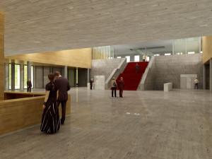 Janáčkovo kulturní centrum navrhl v lokalitě u Inter hotelu Atelier M1, vizualizace: Atelier M1