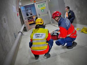 Cvičení v Královopolském tunelu, foto: HZS JMK