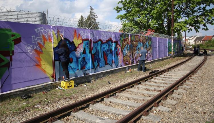 Obrazy z největšího graffiti jamu v Česku, autor: Ondřej Vítek
